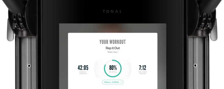 Check out your Workout Summary on Tonal