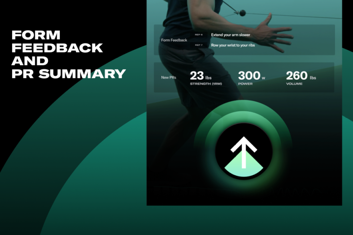 a graphic showing a person's workout summary