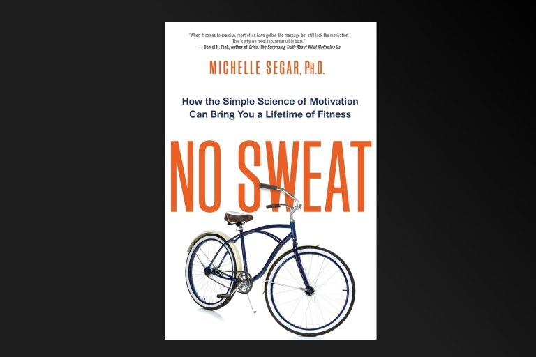 No Sweat book cover on a black background